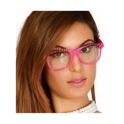 Okulary różowe rzęsy