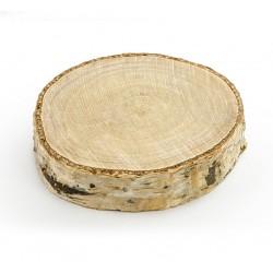 drewniane krążki wizytówki na stół
