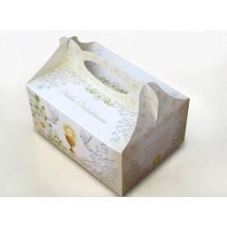pudełko na ciasto komunijne z kielichem