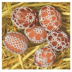 serwetki wielkanocne z jajkami pisankami