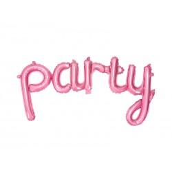 balon foliowy party różowy