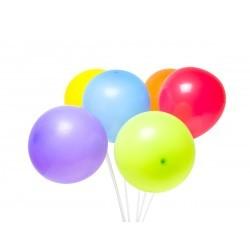 balony pastelowe z patyczkami