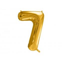 balon foliowy cyfra złota 7