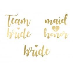 tatuaże team bride maid złote