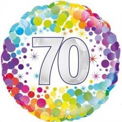 balon foliowy konfetti 70