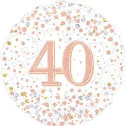balon holograficzny rose gold 40
