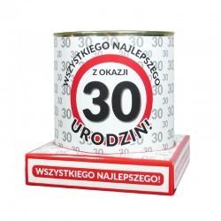 puszka skarbonka znak 30
