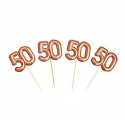 pikery 50 różowe złoto