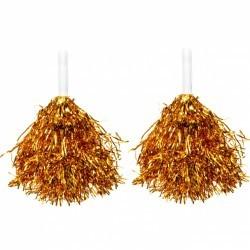 pompony cheerleaderki złote