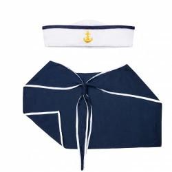 zestaw marynarza czapka i kołnierz