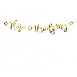 baner moje urodziny złoty