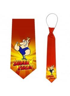 krawat z nadrukiem super facet