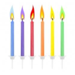 świeczki z kolorowym płomieniem