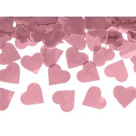 serca różowe złoto konfetti